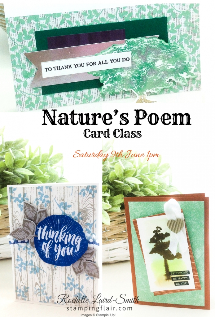 Stamping Flair Card Class, Rochelle Laird-Smith, Stampin' Up, SU, Nature's Poem, Rooted in Nature