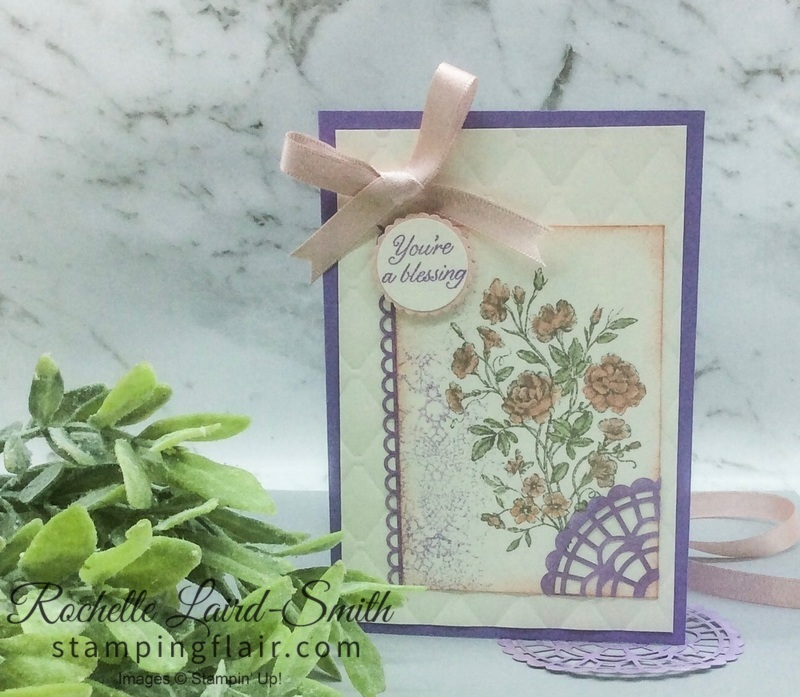 Stampin' Up, SU, Stamping Flair, Rochelle Laird-Smith, Very Vintage, Water colouring