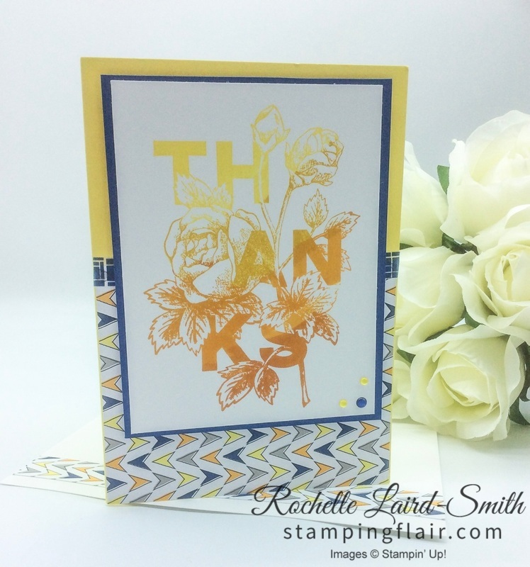 Stampin' Up, SU, Stamping Flair, Rochelle Laird-Smith, Floral Statements, Ombré Stamping, Stamparatus
