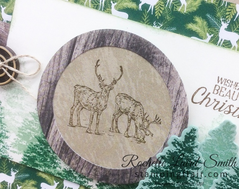 Stamping' Up, SU, Stamping Flair, Rochelle Laird-Smith, Nature Sings, Rooted in Nature, Christmas card, Step-it-Up Sunday,
