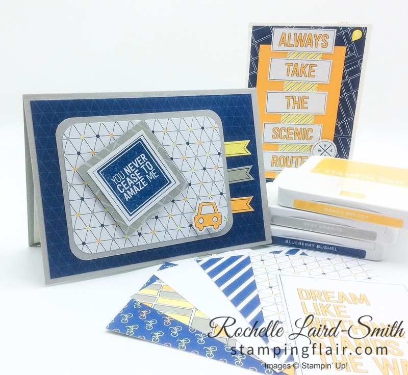 Stampin' Up, SU, Stamping Flair, Rochelle Laird-Smith, Best Route, En Route