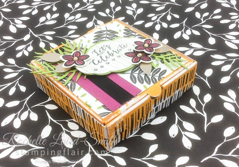 Stampin' Up, SU, Stamping Flair, Rochelle Laird-Smith, Mini Pizza Box, Step-it-Up Sunday