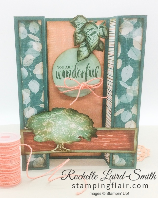 Stampin' Up, SU, Stamping Flair, Rochelle Laird-Smith, Bridge Fold, Fancy Fold, Fun Fold, Nature's Poem