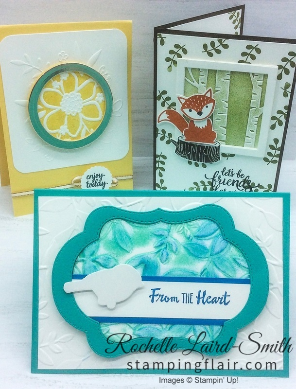 Stampin' Up, Stamping Flair, Class, Embossing folders