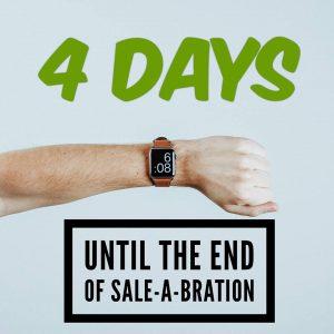 Sale-a-bration 4 days to go