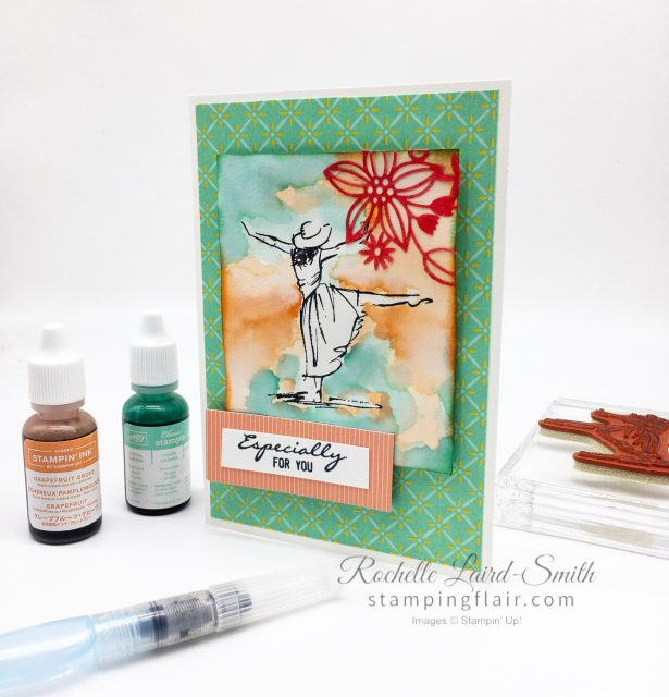 Step-it-Up Sunday Stampin' Up! Beautiful You stamp set Casual crafter Watercolour wash with ink refills