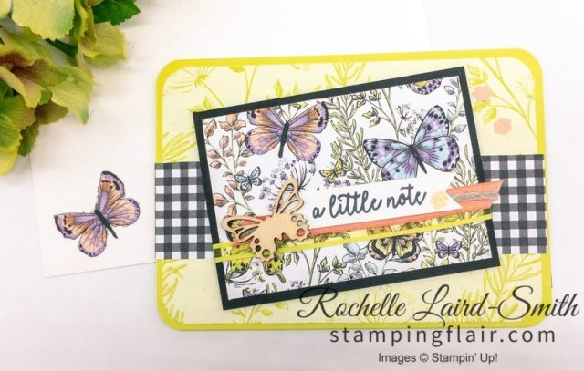 Easy layout with Saleabration itemBotanical Butterfly DSP, Organdy ribbon, Butterflies, Handmade card