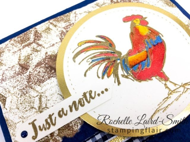 Home to Roost, Rooster coloured with Stampin' Blends alcohol markers