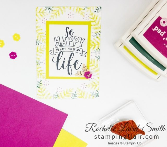 Amazing Life, Simple Stamping, Rectangle Stitched Framelits, In-Color 2017-2019, In-Colour, Step-it-Up Sunday, Create a handmade card for the beginner cardmaker
