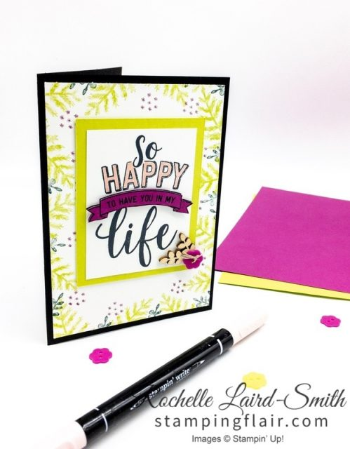 Amazing Life, Simple Stamping, Rectangle Stitched Framelits, In-Color 2017-2019, In-Colour, Step-it-Up Sunday, Casual Crafter handmade card, Saleabration Painted Seasons Bundle