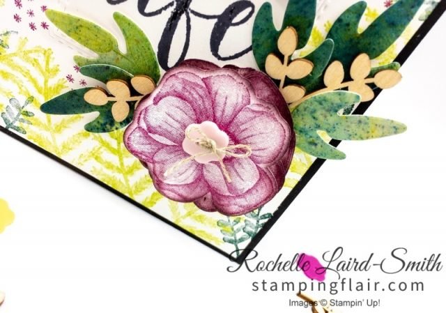 Amazing Life, Simple Stamping, Rectangle Stitched Framelits, In-Color 2017-2019, In-Colour, Step-it-Up Sunday, Leaves created from Brushos crystal,Handmade card, Advanced Crafter