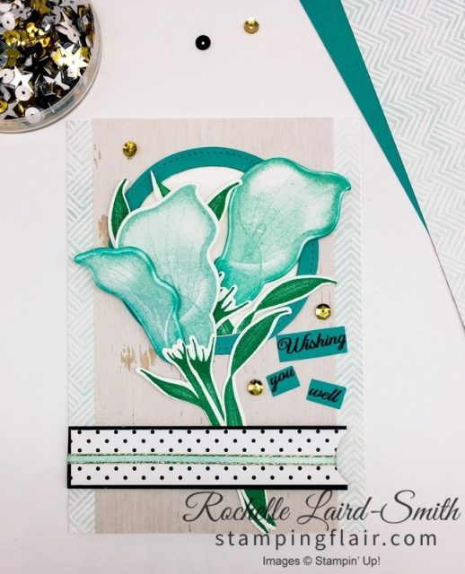 Wishing You Well handmade card with Lasting Lily Saleabration bundle