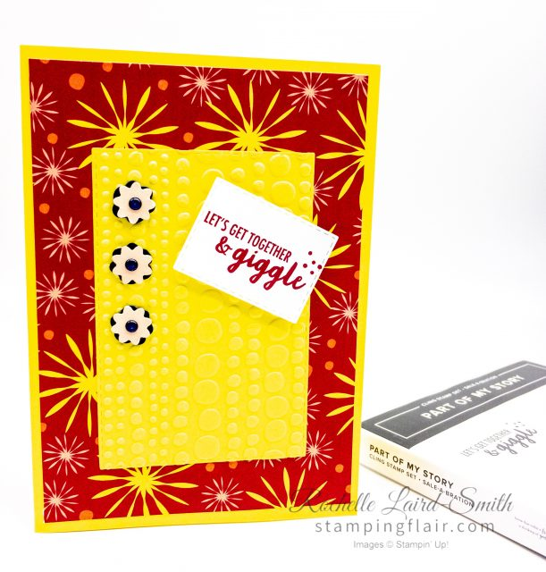 Create 3 cards with the Happiness Blooms stamp set using a simple sketch