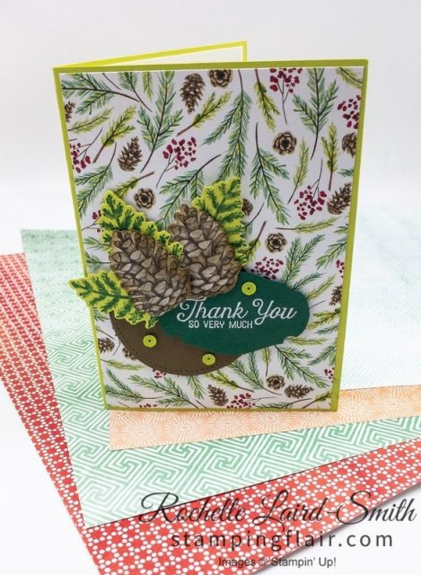 Painted Seasons DSP handmade card, Stampin Up