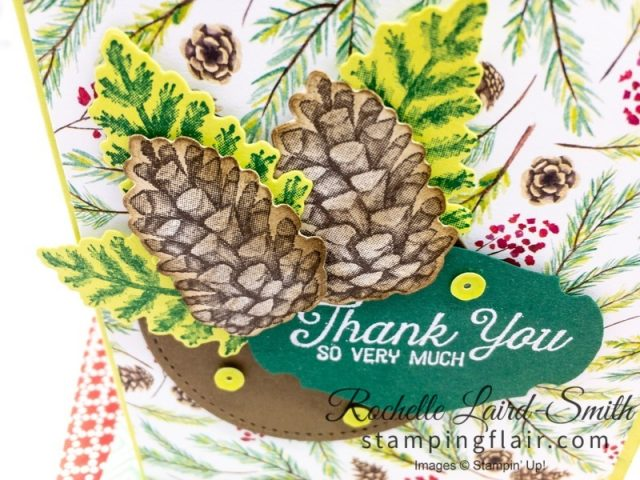 Story Label Punch with Heat embossed sentiment, Painted Seasons, Stampin Up