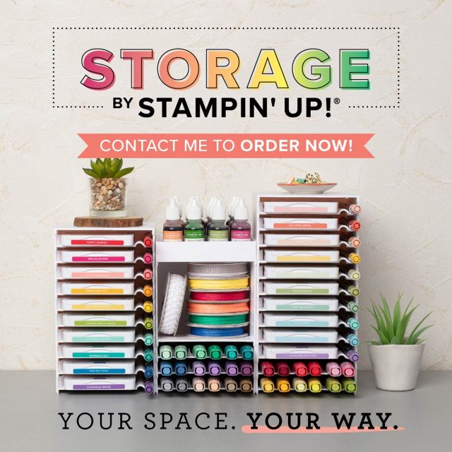 Modular storage for craft room organization