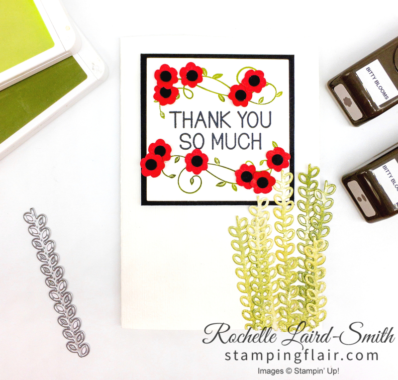 Handmade card using One for All stamp set, ANZAC Day thank you