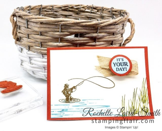 Best Catch, Step-it-Up Sunday, Masculine, Men's card,Beginner card, simple stamping, Fisherman