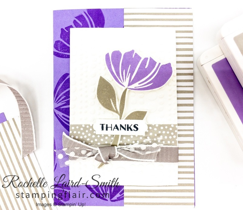 Bloom by Bloom stamp set, stamped background with Bloom by Bloom flower