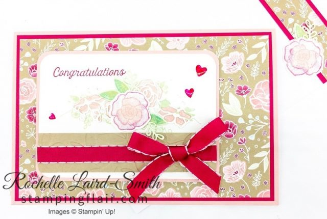 Engagement card using Forever Lovely stamp set by Stampin' Up!,