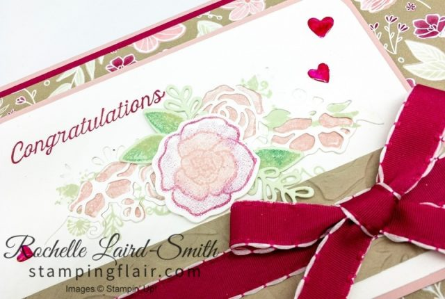 Colour enamel dots with Stampin' Blends, Forever Lovely suite, Congratulation, Love