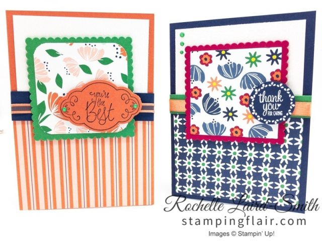 Bloom by Bloom suite, Easy card sketch, Stampin' Up!
