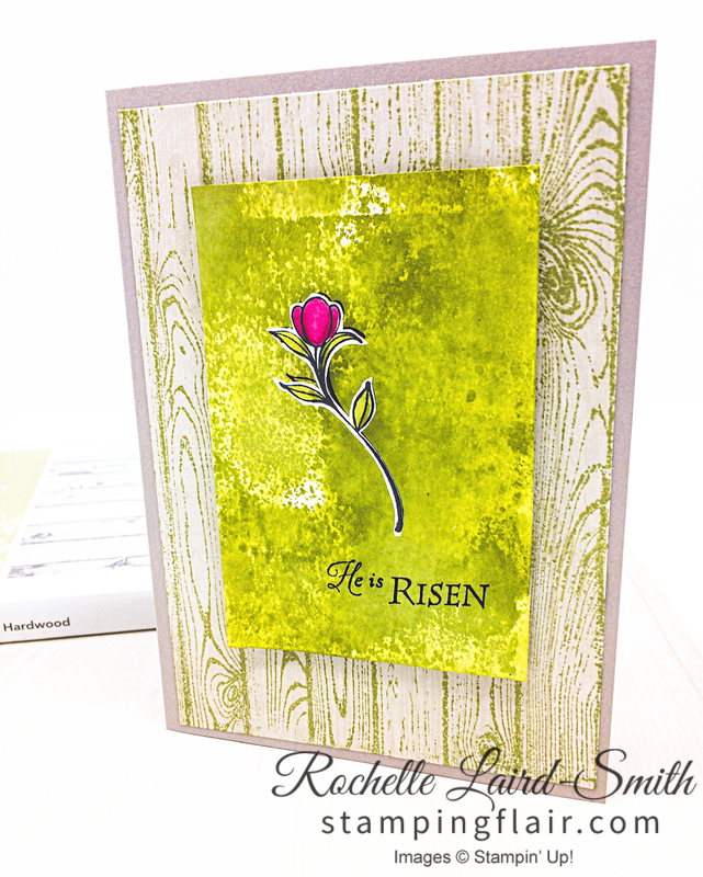 Casual Crafter card using His Grace stamp set by Stampin' Up!, Stamp on Designer Series Paper, Stampin' Blends colouring