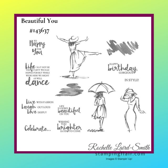Beautiful You Stamp set by Stampin' Up!, Stamp image