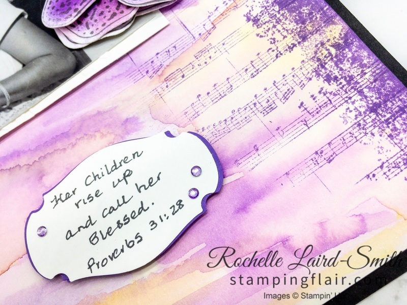 Sheet Music stamp, Stampin' Up!