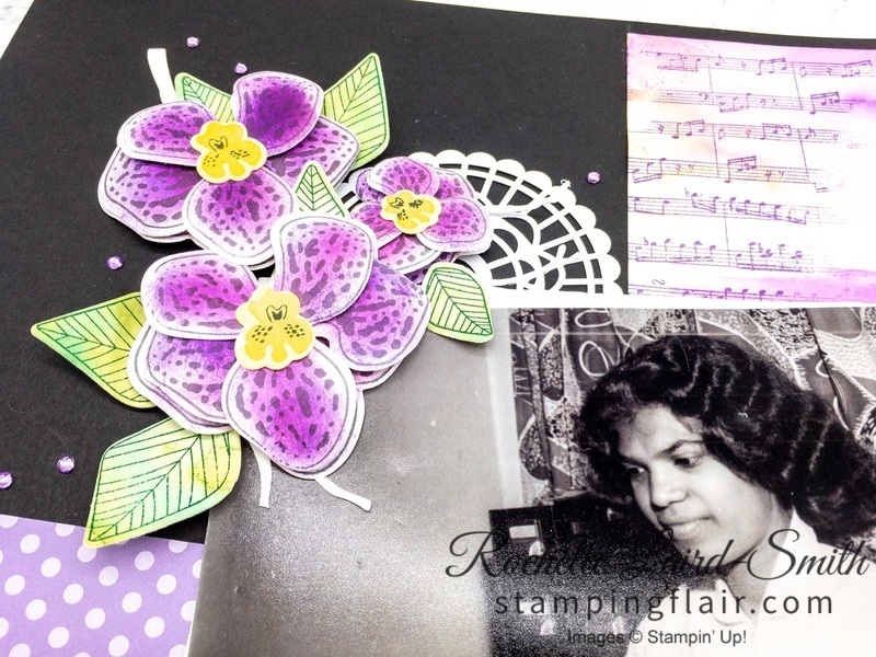 Handmade purple orchids, papercraft
