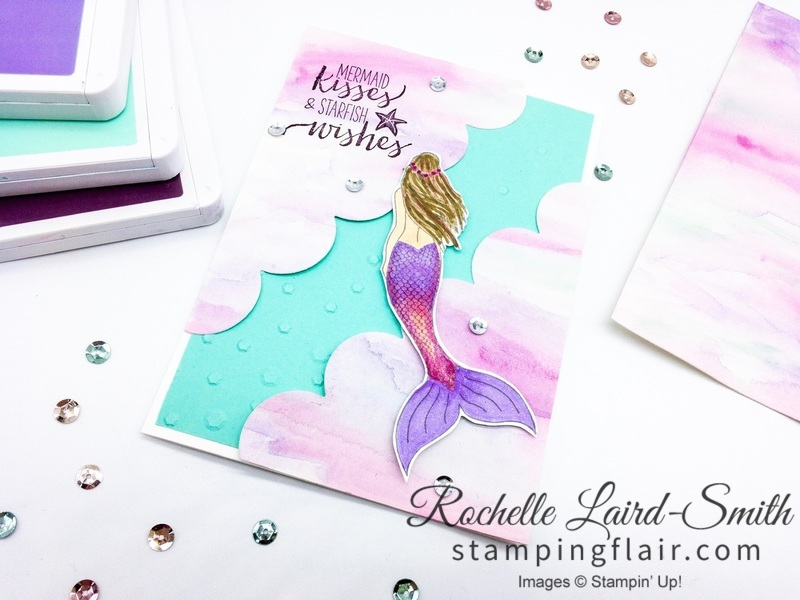 Magical Mermaid handmade Children's card