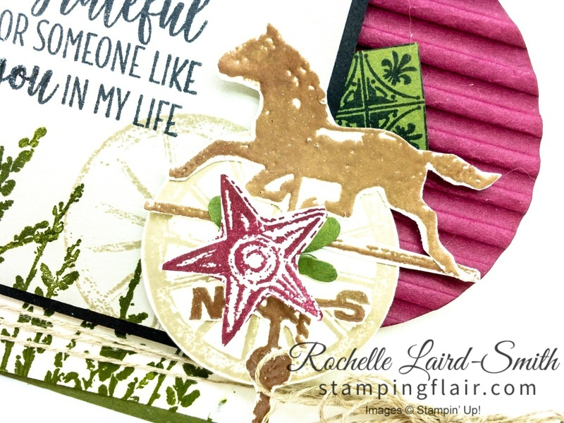 Create a handmade country card with the Country Road stamp set by Stampin' Up!, Step-it-Up Sunday
