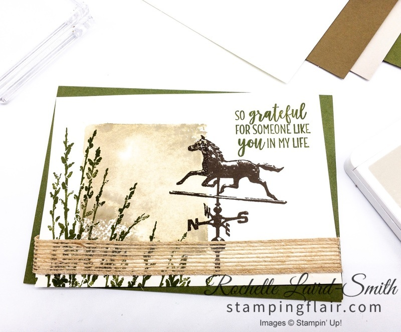 Country Road stamp set by Stampin' Up! used to create a h andmade thank you card for a beginner