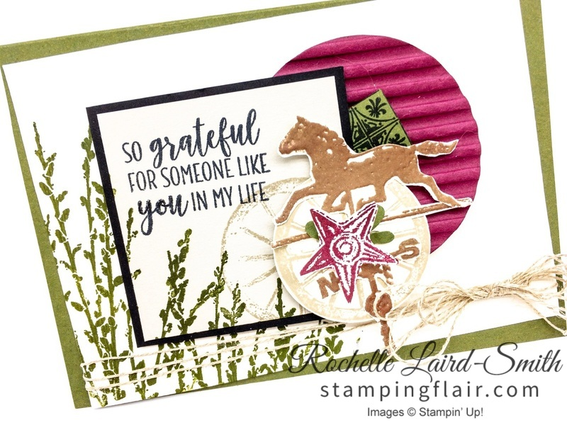 Country Road stamp set, Stampin' Up!, Avid crafter card
