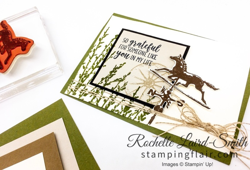 Step-it-Up Sunday, Cardmaking for all levels of crafters, Country Road stamp set by Stampin' Up