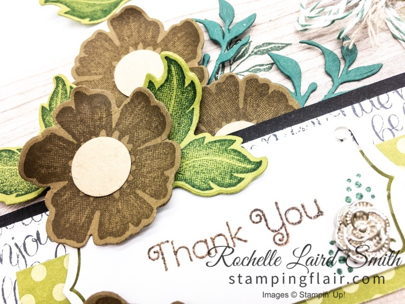 Everything is Rosy, Handmade Thank you Card, Heat embossing