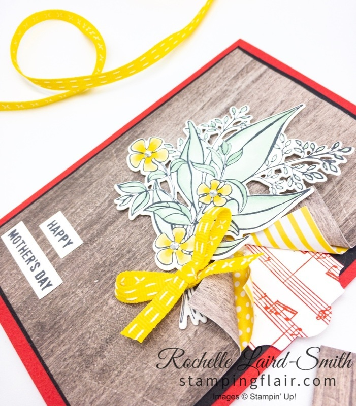 Stampin' Up! handmade card with Wonderful Romance bundle coloured with Stampin' Blends