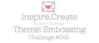 Inspire Create Challenge Theme: Emboss