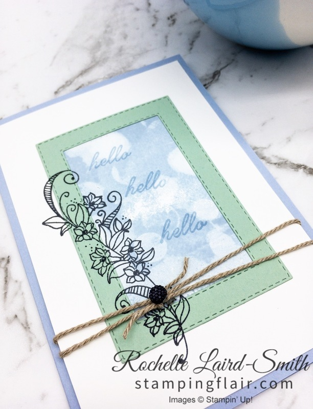 Create a handmade card with butterflies and the Stamparatus using Stampin Up products, Beauty Abounds Stamp Set