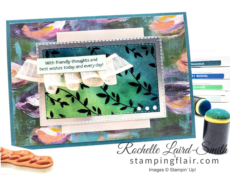 Stampin' Up!, Floral Essence stamp set with Emboss Resist