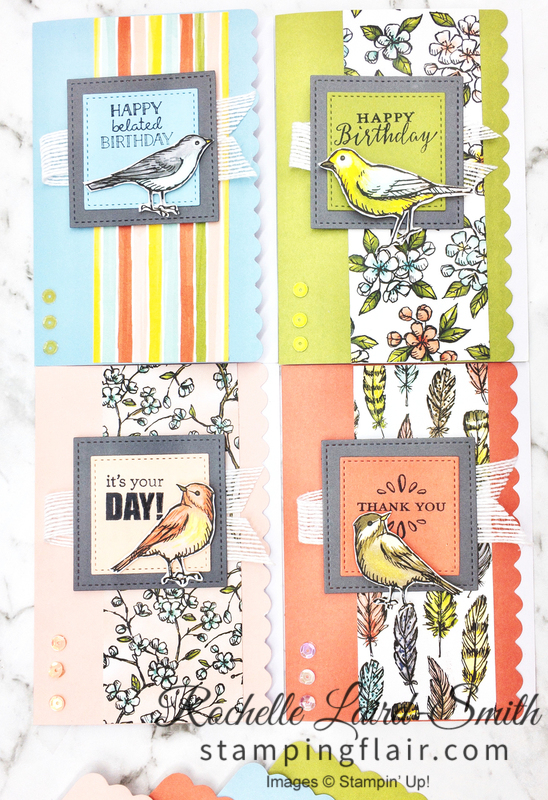 Create a set of handmade cards with bird