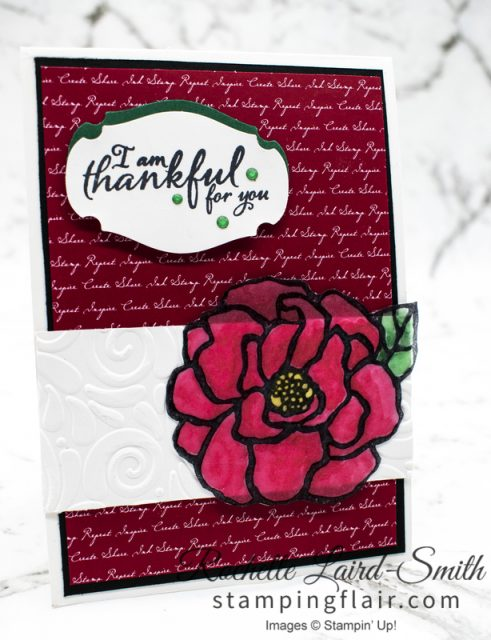 Stampin' Up! Friend card with flower