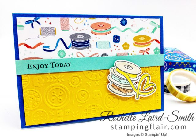It Starts with Art, Simple Layout handmade card, How to use scraps of cardstock