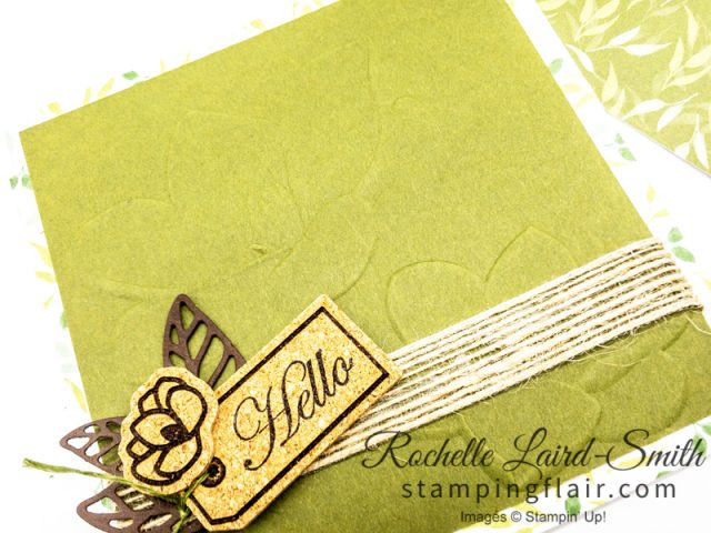 Simple Card with Magnolia Lane 3D embossing folder