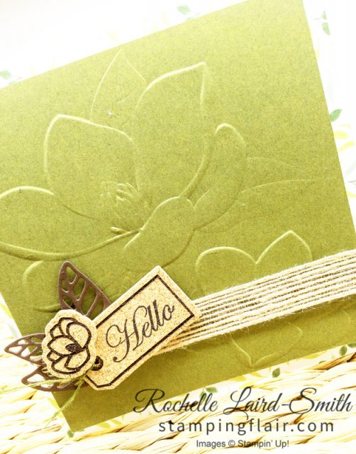 Magnolia 3d handmade card, Stampin' Up!