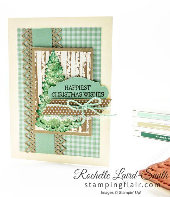 Winter woods Christmas card, handmade