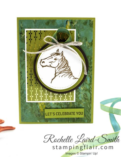 Handmade card with horse, Masculine card with horse, Stampin' Up!