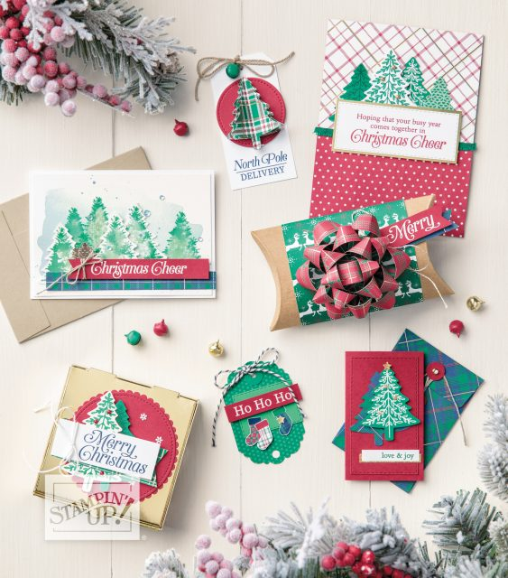 Stampin' Up! Holiday Catalog 2019, Wrapped in Plaid Suite, Plaid Christmas