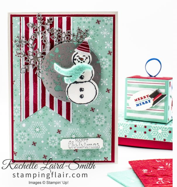 Snowman Christmas card with matching gift box