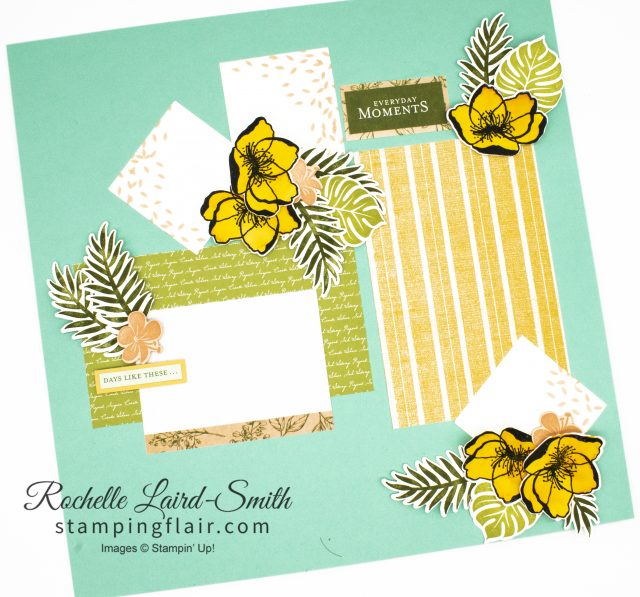 Scrapbook blog hop with a summer theme, Tropical Chic stamp set